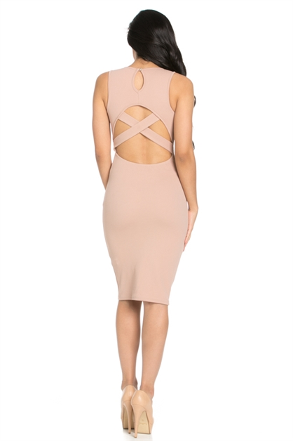KYEHOLE BODY-CON DRESS - orangeshine.com