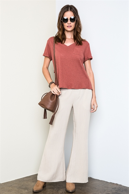 Woven Bell Bottoms - orangeshine.com