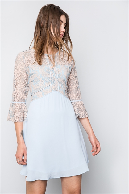 Lace Fit and Flare Dress - orangeshine.com