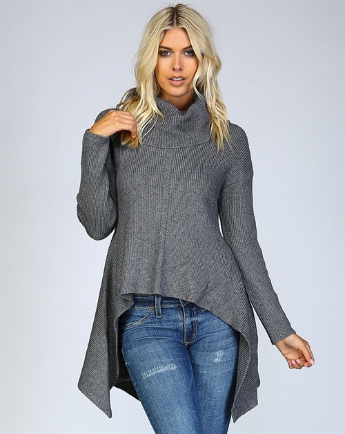 SUPER FLARE COWL NECK SWEATER - orangeshine.com