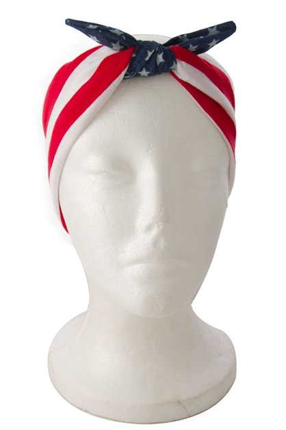 AMERICAN FLAG BOW HEADBAND - orangeshine.com