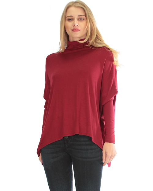 Turtleneck Long-Sleeve Top - orangeshine.com