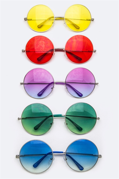 Retro Round Fashion Sunglasses - orangeshine.com