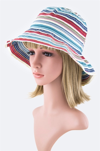 Mix Stripes Bucket Hat - orangeshine.com
