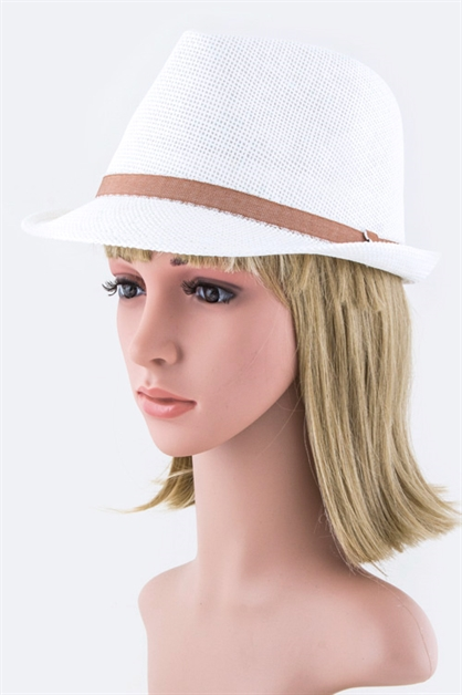 Fashion Straw Fedora Hat - orangeshine.com