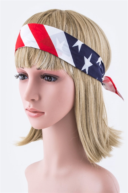 Stars  Stripes Headband Wrap - orangeshine.com