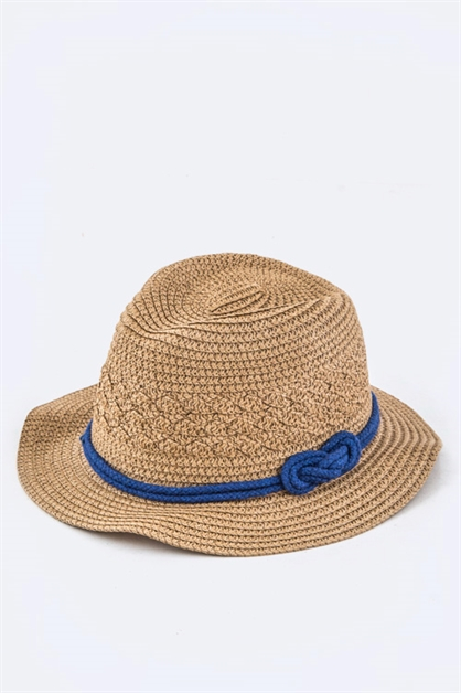 Kids Knotted Rope Straw Hat - orangeshine.com