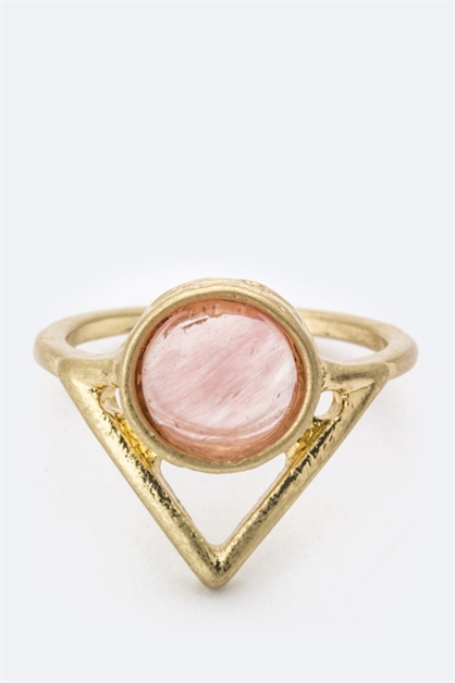 Semi Precious Stone Arrow Ring - orangeshine.com