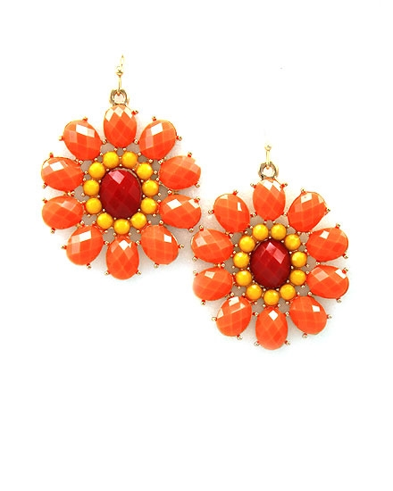 Coral Flower Earring - orangeshine.com