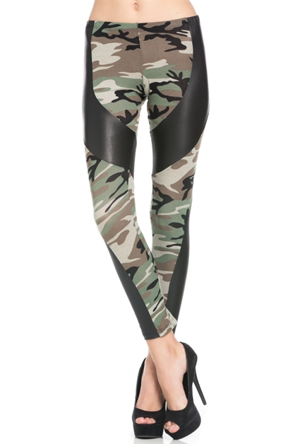 CAMOUFLAGE LEGGINGS - orangeshine.com