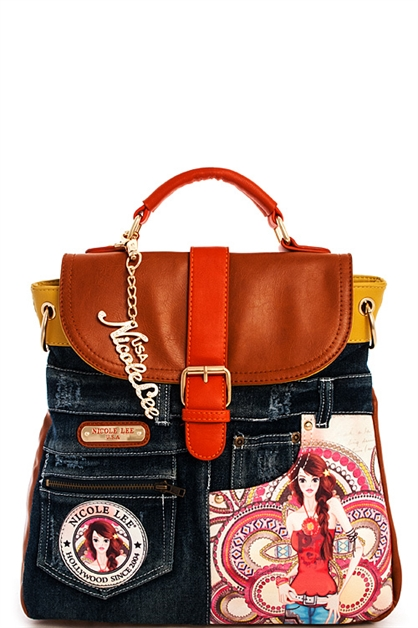 Nicole Lee Wanda Denim Bkpk - orangeshine.com