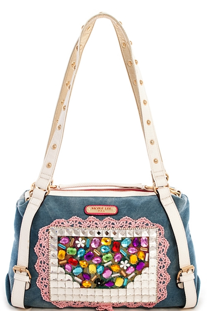 Nicole Lee Clover Denim Bag - orangeshine.com