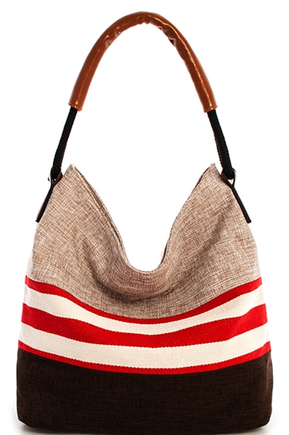 Designer Trendy Stripe Hobo - orangeshine.com