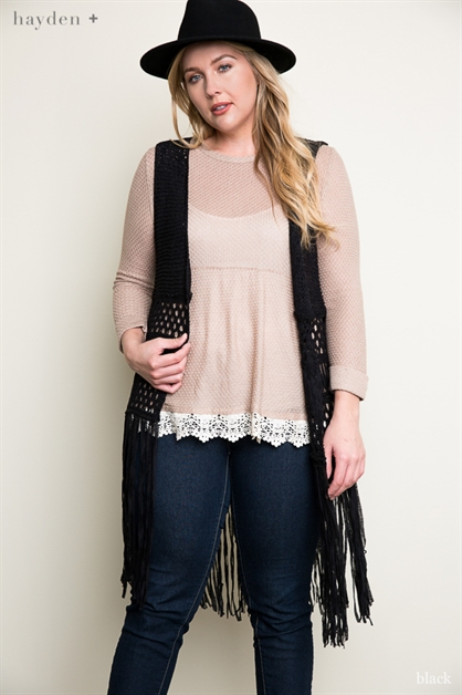Crochet Fringe Dress - orangeshine.com