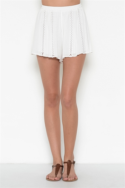 LACE TRIMMED SHORTS - orangeshine.com