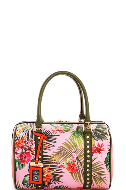 Nicole Lee Tropical Boston Bag - orangeshine.com