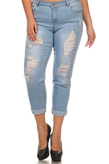 PLUS DENIM JEANS RRPB-2705 - orangeshine.com