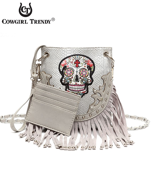 Fringed Skull Mini Messenger - orangeshine.com