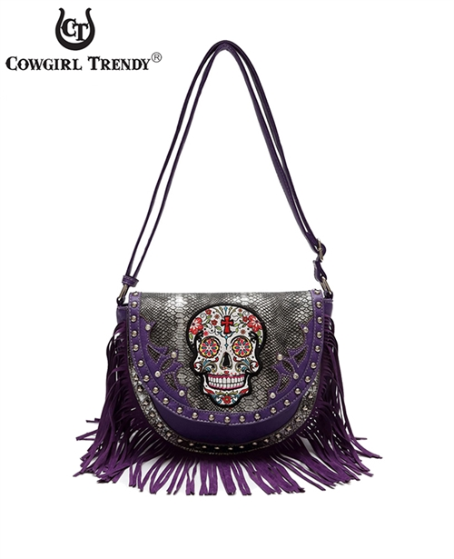 Fringed Skull Messenger Bag - orangeshine.com