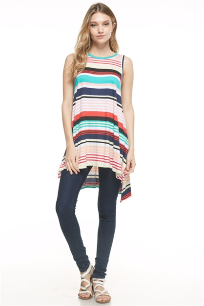 MULTI STRIPED TUNIC - orangeshine.com