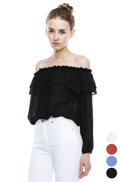 OFF SHOULDER RUFFLE - orangeshine.com