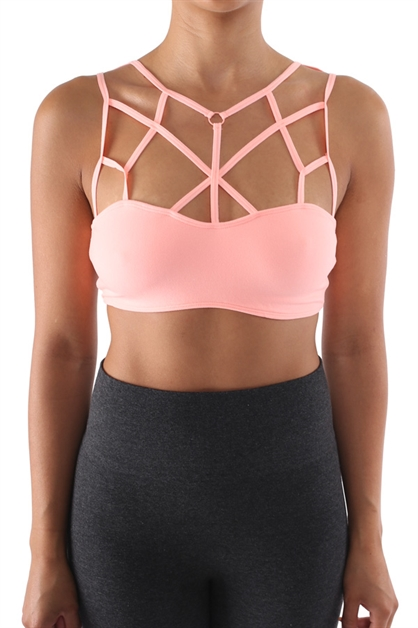Cross Front Bra - orangeshine.com