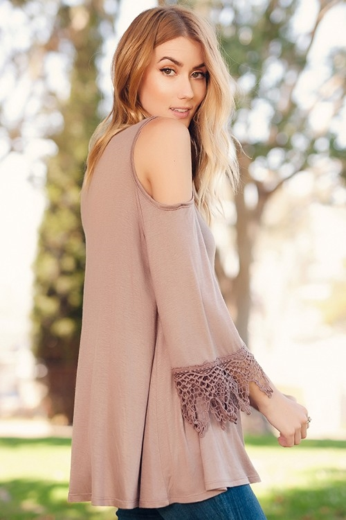 COLD SHOULDER WITH CROCHET - orangeshine.com
