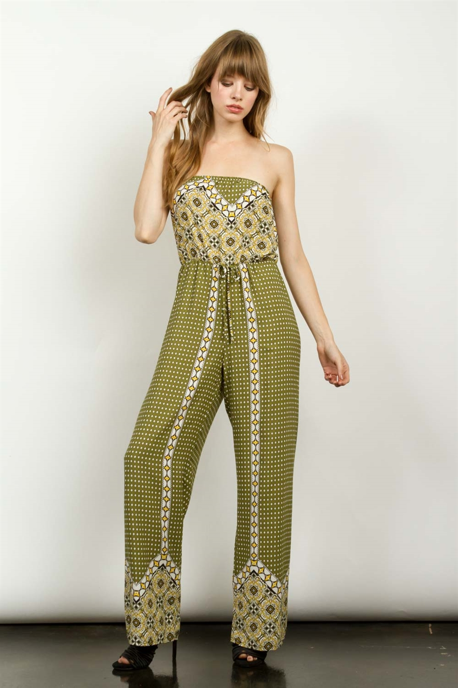 ABSTRACT STRAPLESS JUMPSUIT - orangeshine.com