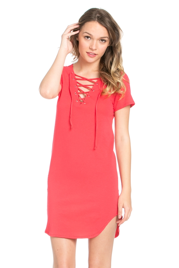 COTTON SPANDEX DRESS - orangeshine.com