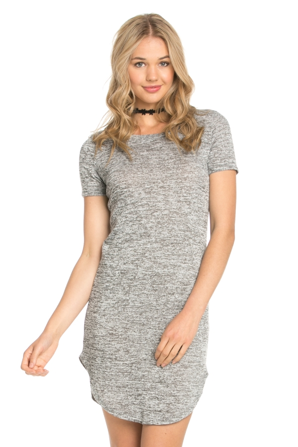 SHIRTAIL KNIT DRESS - orangeshine.com