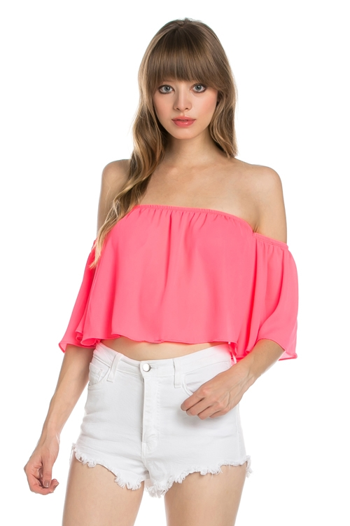 SOLID CROP OFF THE SHOULDER TO - orangeshine.com
