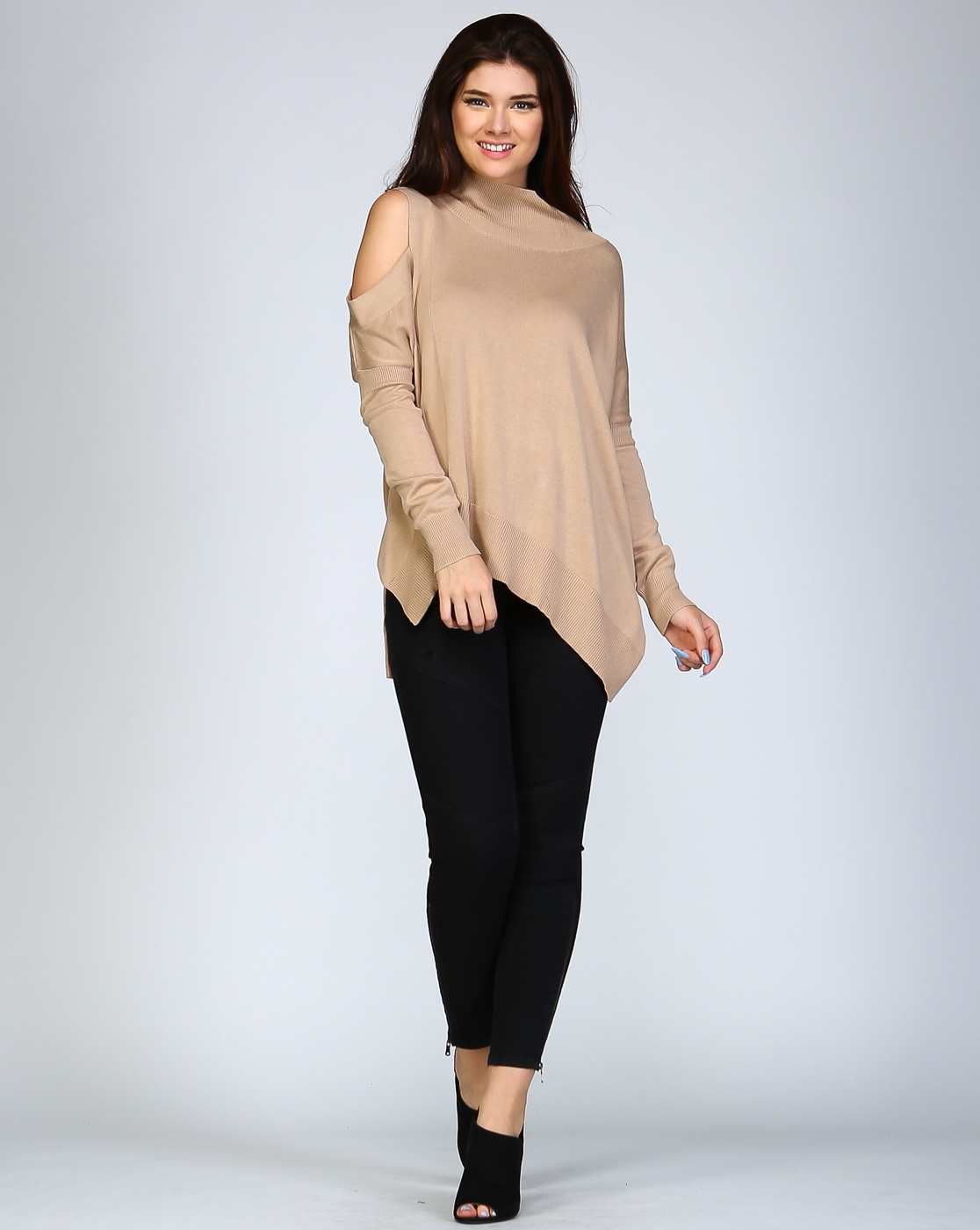 Cold Shoulder Sweater - orangeshine.com