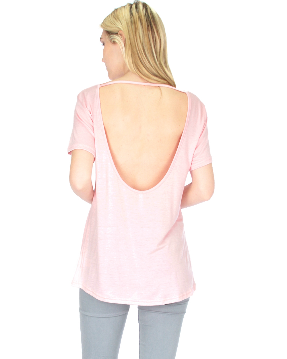 Open Back Tunic Top  - orangeshine.com