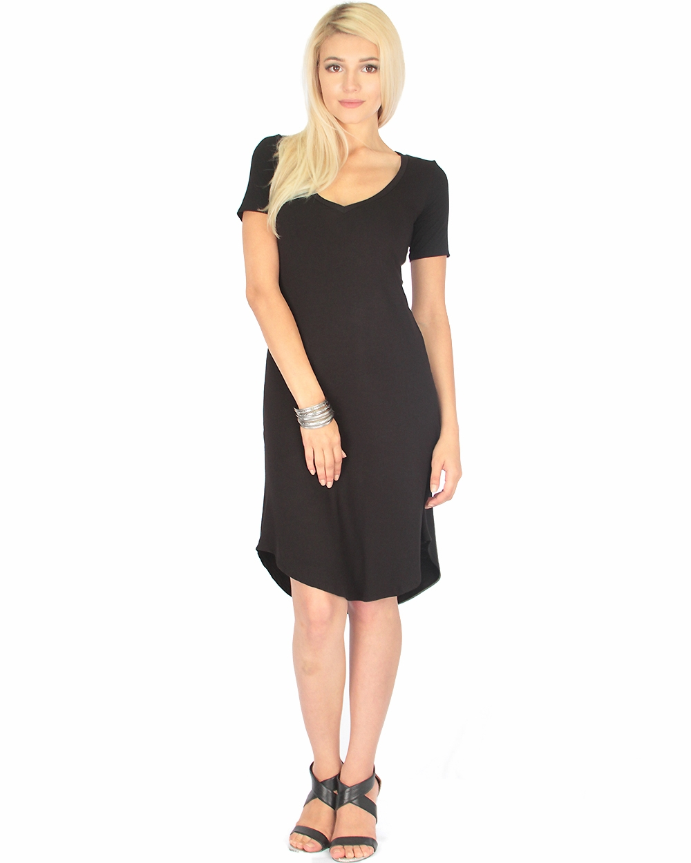 Truly Madly Deep V Neck Dress - orangeshine.com