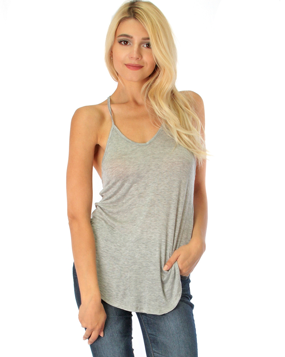 LOOSE FITTING RACERBACK TANK T - orangeshine.com