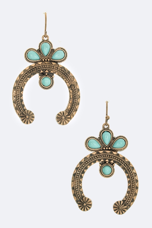 Ornate Horseshoe Earring - orangeshine.com