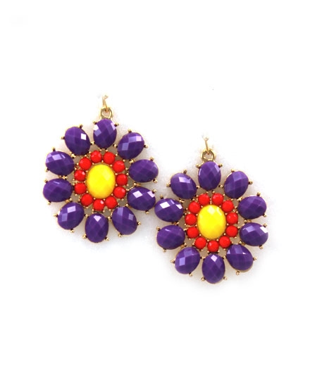 Violet Flower Earring - orangeshine.com
