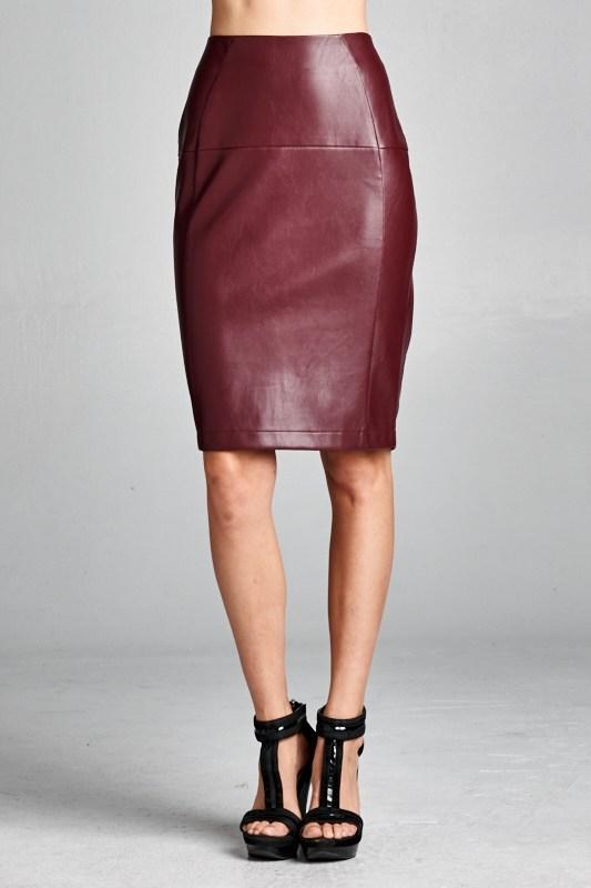 ellison wholesale faux leather skirt orangeshine