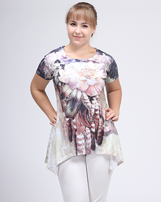 FLORAL PRINT SHARK BITE TOP - orangeshine.com