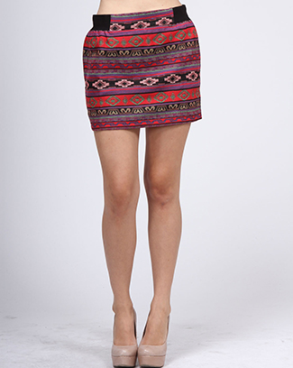 ETHNIC PRINTED SKIRT - orangeshine.com