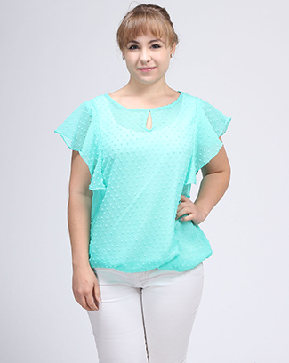 FLUFFY SLEEVE BUBBLE TOP - orangeshine.com