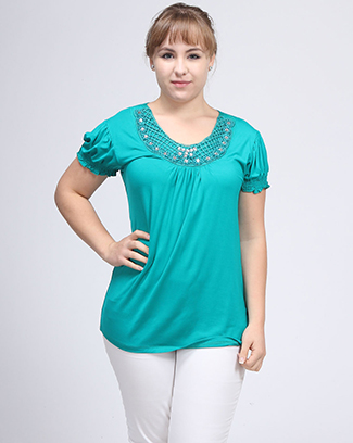CAP SLEEVE ROUND NECK TOP - orangeshine.com