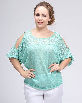 LACE OPEN SLEEVE TOP - orangeshine.com