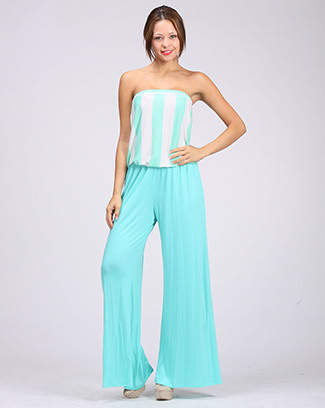 STRIPPED JUMPSUIT - orangeshine.com