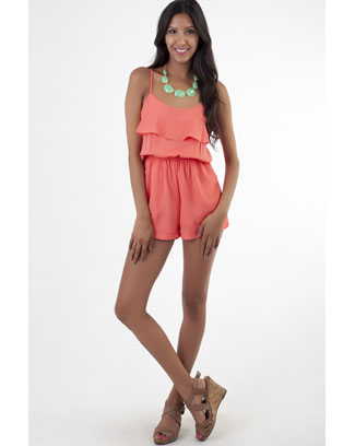 RUFFLE LAYER ROMPER - orangeshine.com