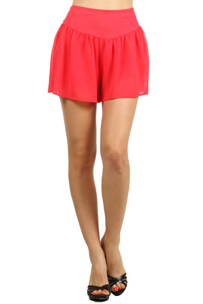 PLEATED SHEER LOOSE FIT SHORTS - orangeshine.com