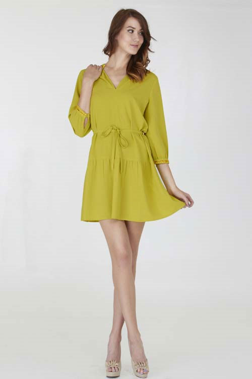 V-lneckine dress - orangeshine.com