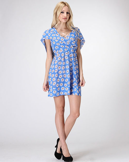 FLOWER PRINT DRESS W/ HOODIE - orangeshine.com