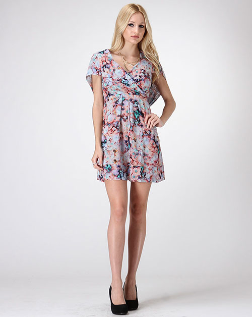 FLORAL PRINT DRESS W/ HOODIE - orangeshine.com
