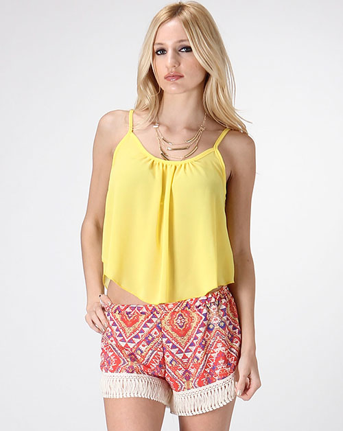 CHIFFON SLUB CROP TOP - orangeshine.com